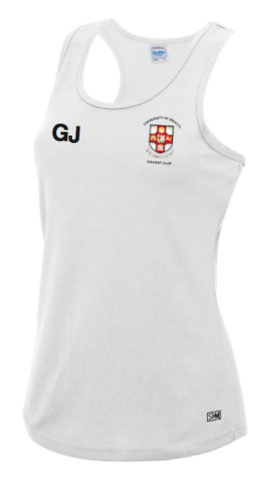 Bristol Womens Cricket White Performance Tank (All Print) (RS)