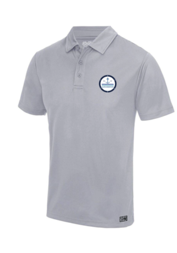 Glasgow Underwater Group Heather Grey Mens Performance Polo (Print)