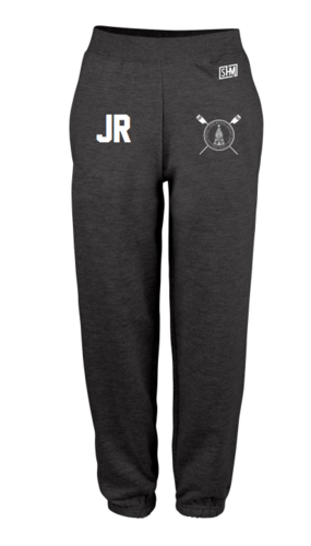 LJMU Rowing Black Womens Sweatpants (Logo Embroidery, Everything Else Print)