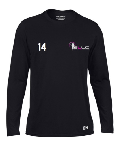 Southampton Lacrosse Black Womens Long Sleeved Performance Tee (All Print)