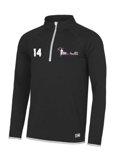Southampton Lacrosse Black Womens Performance Sweatshirt (All Embroidery)