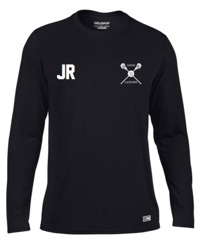 Uni Of Leeds Lacrosse Black Mens Long Sleeved Performance Tee (All Print)