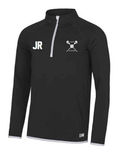 Uni Of Leeds Lacrosse Black Mens Performance Sweatshirt (Logo Embroidery, Everything Else Print)