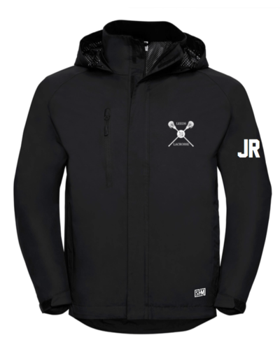 Uni Of Leeds Lacrosse Black Mens Hydroplus Jacket (Logo Embroidery, Everything Else Print)