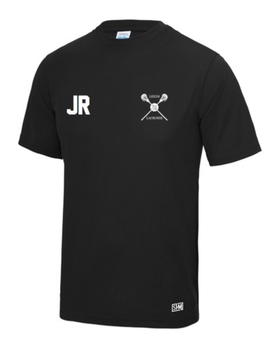 Uni Of Leeds Lacrosse Black Mens Performance Tee (All Print)