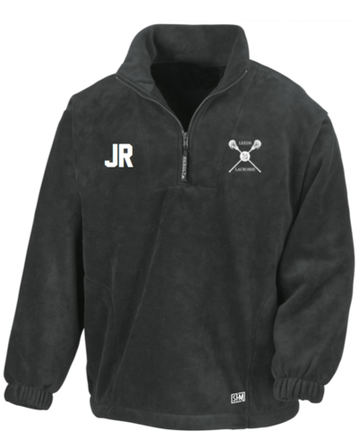 Uni Of Leeds Lacrosse Black Unisex Fleece (All Embroidery)