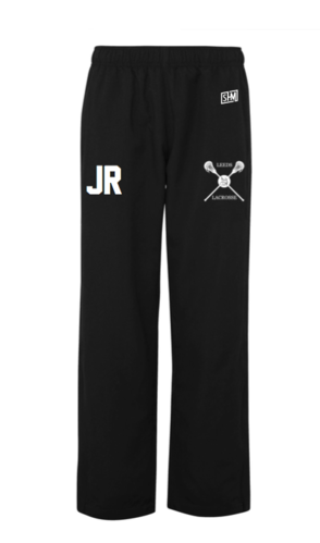 Uni Of Leeds Lacrosse Black Mens Trackies (Logo Embroidery, Everything Else Print)