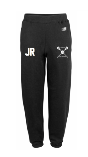Uni Of Leeds Lacrosse Black Womens Sweatpants (Logo Embroidery, Everything Else Print)