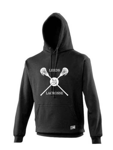 Uni Of Leeds Lacrosse Black Unisex Hoodie (All Print)