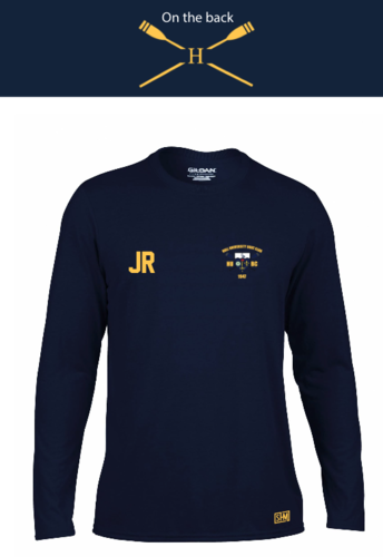 Hull Uni Boat Navy Long Sleeved Performance Tee (All Print)